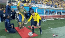 Paralyzed Teen Kicks Out First Ball at World Cup Using New Technology (Video + GIF)