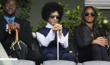 Prince and His Scepter Watching Rafael Nadal at the French Open (Photos)