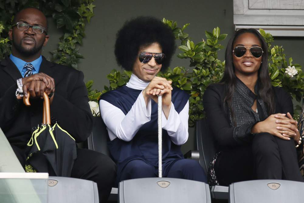 Prince at French Open