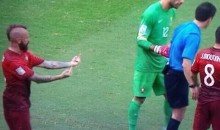 Raul Meireles Flips Double-Bird at Referee During Portugal's 4-0 Loss to Germany (Photo)