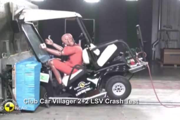 Golf cart crash test