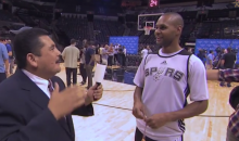 Jimmy Kimmel Sent Guillermo to NBA Finals Media Day (Video)