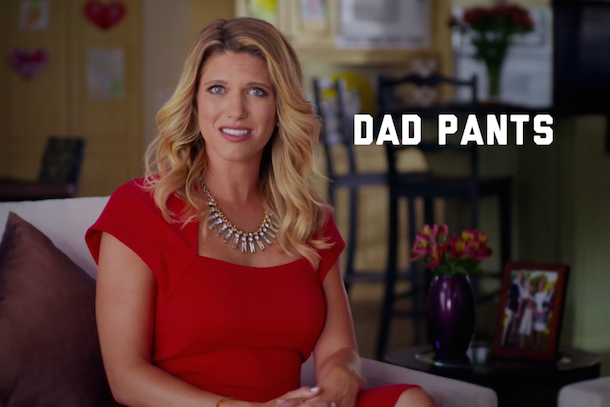 sarah harbaugh dockers commercial dad pants