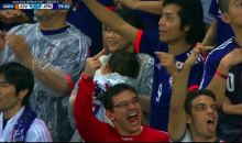 Two Fans Make Vulgar Gestures at the World Cup During Japan vs. Ivory Coast (Video + GIF)