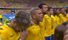 Neymar Cries During Brazil's National Anthem Prior to World Cup Match vs. Mexico (Videos)