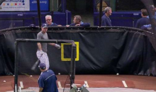 Tampa's Matt Joyce Hits Pitching Machine Ball Right Back Into Pitching Machine (GIF)