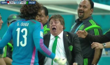 Watch Mexico's Soccer Coach Miguel Herrera Go Mentally Unhinged During Win vs. Croatia (GIF + Video)