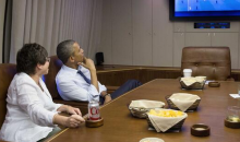 President Obama Watched the USA vs. Germany World Cup Match Aboard Air Force One (Picture)