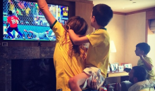 Here's Gisele Bundchen and Tom Brady the Moment Brazil Beat Chile at the World Cup (Instagram Photo)