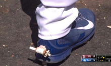 Vin Scully Commentates Scott Van Slyke Getting Pranked With the Ole' 'Hot Foot' (GIFs)