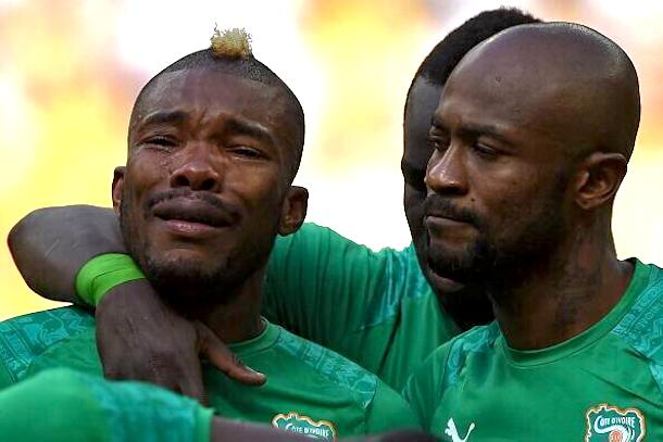 Serey Die crying before ivory coast colombia