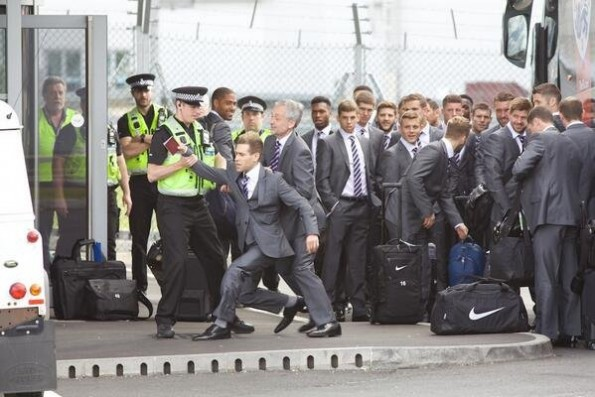 Simon Brodkin Tries To Get On English Team Plane
