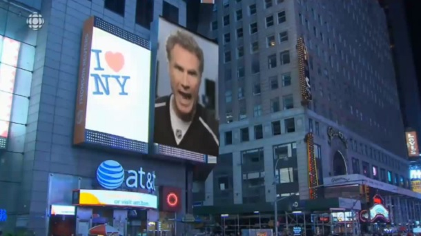 Will Ferrell video billboard LA Kings MSG