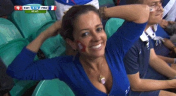 World Cup Cameraman Shoves Guy for Shot of Girl