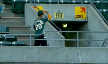 This Oakland A's Fan Was Absolutely Disgusted with Himself After Dropping an Easy Foul Ball (Video)