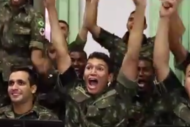 brazilians react to first world cup goal