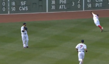 In First Ever Start in Center Field, Red Sox Rookie Brock Holt Makes Amazing Diving Catch…in Left Field (Video)
