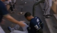 Laughing at Carlos Gomez Falling Down the Stairs Will Make You Feel Better About Yourself