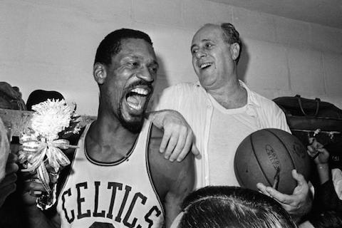 celtics lakers 1966 bill russell - nba finals rematches
