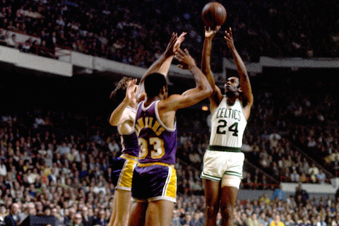 celtics lakers 1969 sam jones game 4 - nba finals rematches