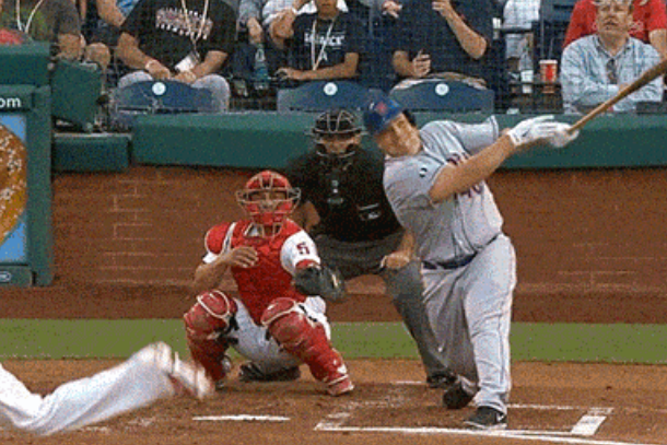 colon crushes foul ball