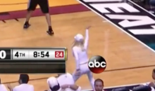 Crazy Miami Heat Lady Still Making Ass of Self During 4th Quarter of Blowout Loss (Vine)