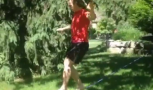 David Booth Tries Slacklining, Fails Hilariously (Video)