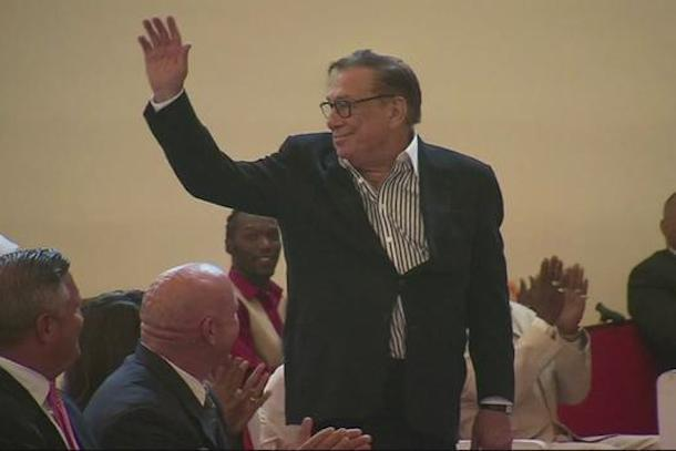 donald sterling attends service at black church