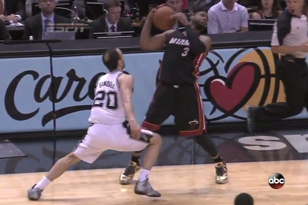 dwyane wade flop nba finals game 2