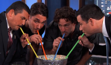 Jimmy Kimmel, Justin Williams, Alec Martinez, and Guillermo Make Giant Margarita in Stanley Cup (Video)