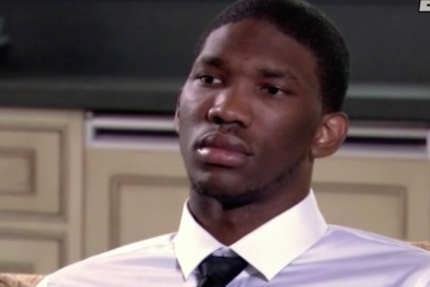 joel embiid happy draft face