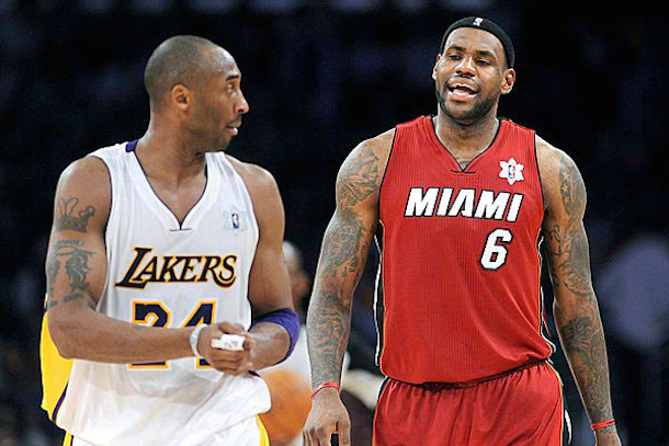 lakers - lebron james and kobe bryant - lebron free agency