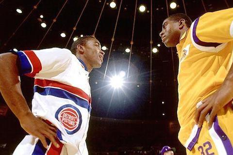 lakers pistons 1989 - nba finals rematches