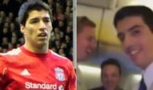 Liverpool Fans Serenade Luis Suarez Doppelgänger on Ryanair Flight
