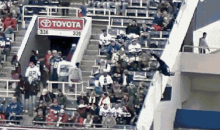 New Security Footage Gets Guy Who Fell from Upper Deck of Ralph Wilson Stadium Convicted of Reckless Endangerment (GIF)