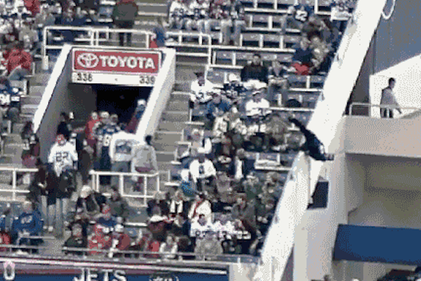man falls from upper deck ralph wilson stadium
