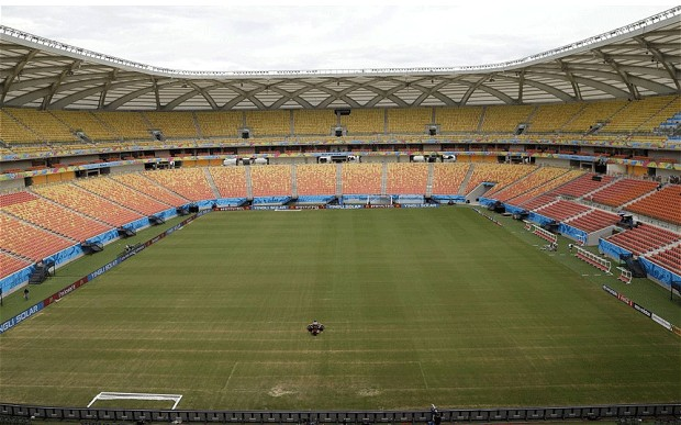 manaus pitch in bad shap ahead of world cup
