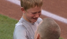 Military Dad Surprises Son at Royals Game, Things Get Emotional (Video)