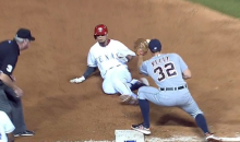 Rangers Second Baseman Rougned Odor Strikes Out, Still Gets to Third Base (Video)