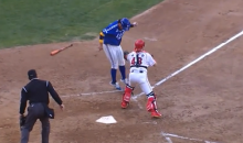 Korean Baseball Player Park Seok-Min Evades Tag at Home Plate Like a Boss (Video)