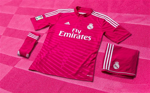 real madrid pink kit