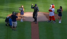 RoboCop Throws Out First Pitch at Detroit Tigers Game…Makes 172 Arrests (Video)