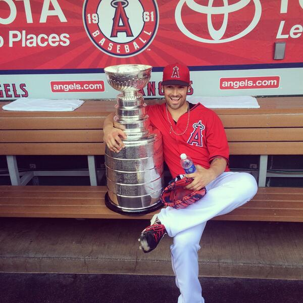 stanely cup at angels game