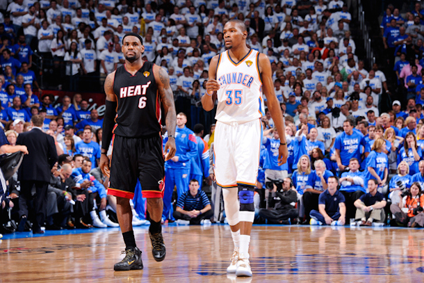 thunder - lebron james and kevin durant - lebron free agency