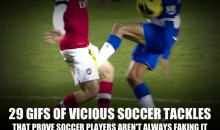 29 GIFs of Vicious Soccer Tackles That Prove Soccer Players Aren't Always Faking It