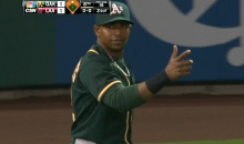 Yoenis Cespedes Gets Howie Kendrick at the Plate with the Greatest Throw You've Ever Seen (Video + GIFs)