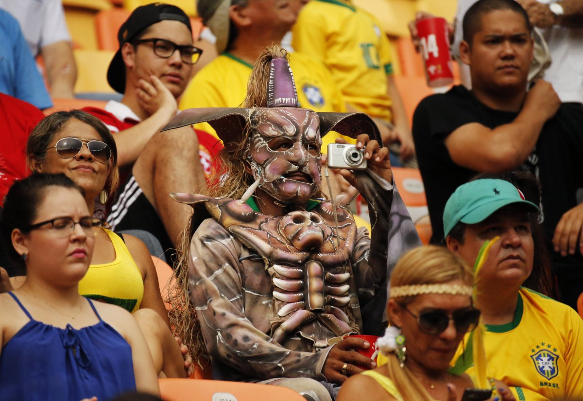 1 disturbing brazil fan - craziest fans at 2014 fifa world cup
