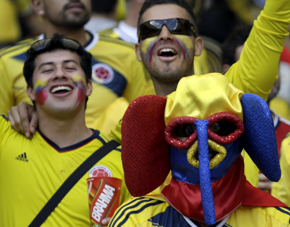 10 scary colombia face mask guy - craziest fans at 2014 fifa world cup