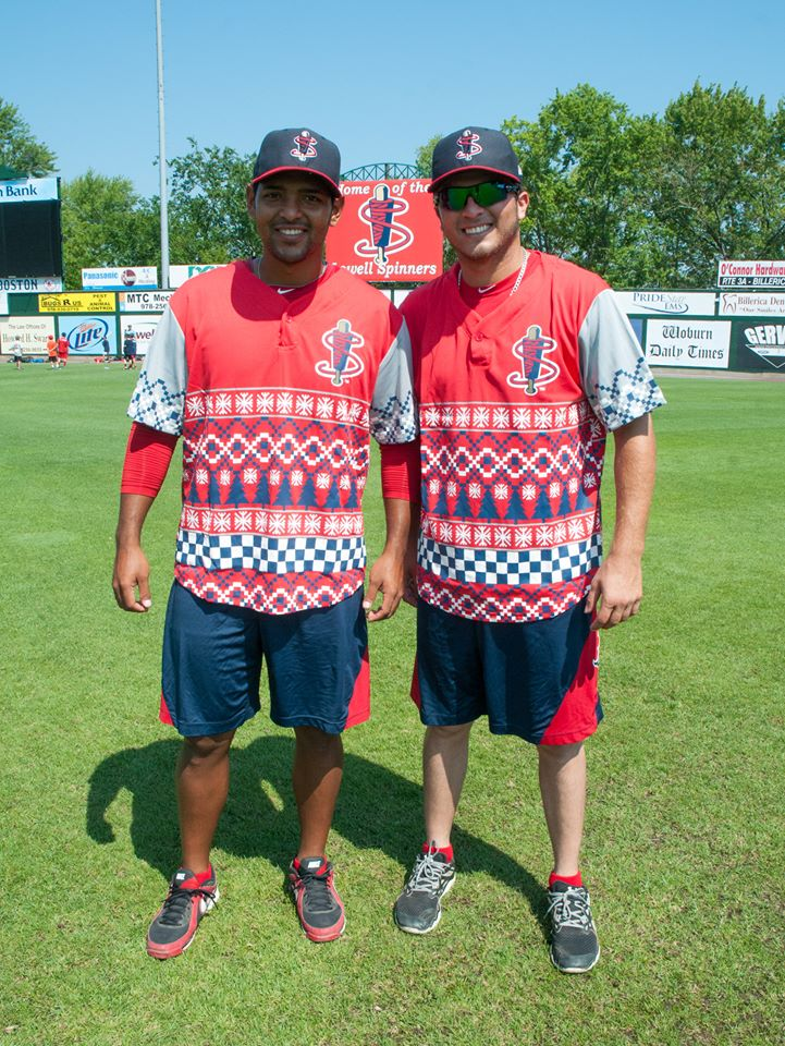 11 *didnt actly wear* lowell spinners ugly christmas sweater jerseys (2014) - crazy minor league baseball jerseys