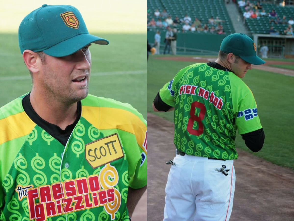 12 fresno grizzlies price is right jersey - crazy minor league baseball jereys